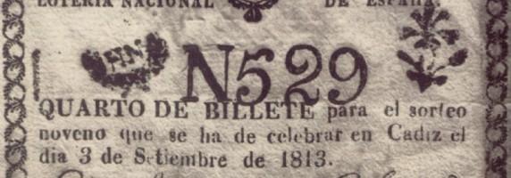 Turrones y Mazapanes- Billete de lotería antiguo