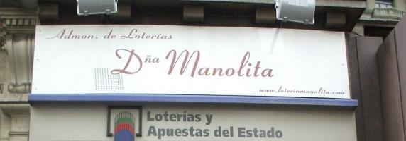 Turrones y mazapanes - Doña Manolita se traslada
